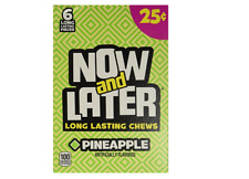 Now & Later Pineapple Long Lasting Chews 0.93oz / 26g each (24 Count) Box