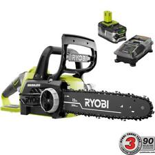 Ryobi Chainsaw Batt Charger ONE+ Brushless Powerful Electric Li-Ion 18V 12 in.