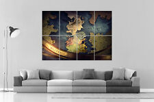 Games of thrones Westeros Map  Wall Art Poster Grand format A0 Large Print