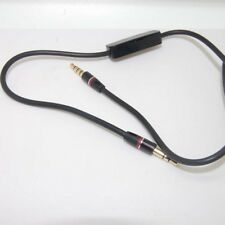 3.5mm Audio Cable Lead Cord w MIC For Creative HN-900 Over-the-Ear Headphone kd