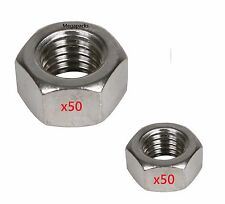 100 x A2 Hex Nuts - M6 (x50) M8 (x50) - Yamaha RD50LC