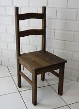 4er Set corona Stuhl Mexico Sao Paulo Pinie massiv Eiche antik Esszimmer Stühle