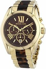 Michael Kors Women's MK5696 Tortoise Chronograph Watch Brand New