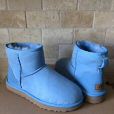 UGG Classic Mini II Horizon Blue Water-resistant Suede Boots Size US 9 Womens