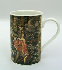 DUNOON SCOTLAND - STONEWARE MUG - MEDIEVAL WALL TAPESTRY DESIGN - EXCELLENT