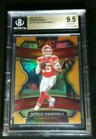 BGS 9.5 POP 4 PATRICK MAHOMES II #'D /49 *SSP ORANGE PRIZM 2019 Panini Select #7