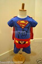 Bebé Niño Niña Superboy Superman Supergirl Superhéroe Disfraz Traje body