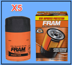 5 Engine Oil Filters Extra Guard FRAM For AMC Audi BMW LOTUS VW W. Gasket