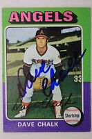 DAVE CHALK California Angels Autographed 1975 Topps #64 Signed Card 16F