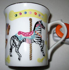 New LENOX CAROUSEL Pattern Mug 1995 ~ Yellow Accent Color