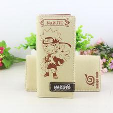 Anime Naruto Konoha canvas wallet long purse credit card holder cosplay gift NEW