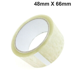 3 ROLLS CLEAR HIGH QUALITY PACKING TAPE SEALING 48MM X 66M SELLOTAP PACKAGING