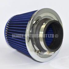 """Universal Twin Cono Filtro De Aire Azul 63 mm de 2,5 """"entrada Turbo inducción Punta (76142)"""