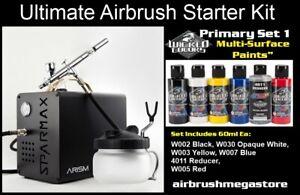 Sparmax Arism Ultimate Airbrush Starter Kit + Free Insured Freight