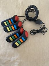 4 Playstation Remotes Quiz Game Buzz Controllers (PS2 PS3)