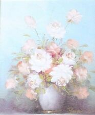 ROBERT COX - OIL ON BOARD - BEAUTIFUL SIGNED FLORAL STILL LIFE
