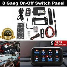 8 Gang On-Off Control Switch Panel Blue Backlight For Jeep Wrangler JK Kenworth