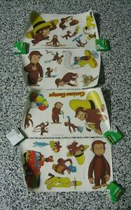 Curious George Peel & Stick Vinyl Stickers Removeable 24 Total