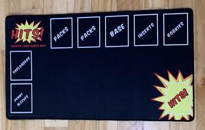 Break Mat • Hits! Sports Card Hobby Mat • 24x13.5 in • Premium Quality Breaker