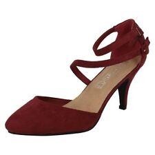 Zapatos de tacón de mujer de color principal rojo sintético Talla 38.5