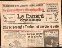 CANARD ENCHAINÉ Birthday Newspaper JOURNAL NAISSANCE 16 JUILLET JULY  1986