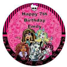 """Monster High 7.5"""" Personalised Cake Topper Edible Wafer Paper Birthday Party"""