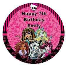 "Monster High 7.5 ""Personalizadas Cake Topper Comestibles De Oblea De Papel Fiesta De Cumpleaños"