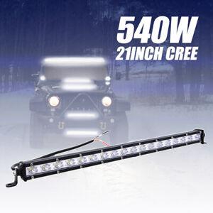 """21"""" 540W LED phare de travail Feux rampe de toit barre de 4x4 offroad light bar"""
