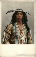Native American Chief Arrowmaker Detroit Photographic Co. Antique Postcard