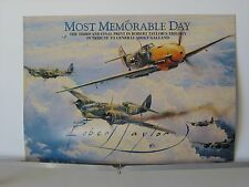 Most Memorable Day Galland Me109 Spitfires Robert Taylor Aviation Art Brochure