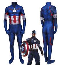 Avengers Endgame Captain America Costume Cosplay Bodysuit for Kids Adult