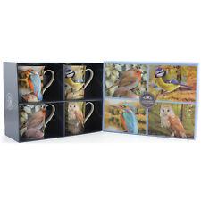 Set Of 4 Macneil British Birds Palace Print Design Ceramic Coffee Tea Mugs Cups