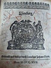 antike Bibel Heilige Schrift Lüneburg 1715 Cornelius Johann Stern  Holzdeckel