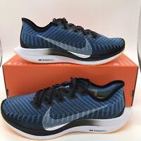Nike Zoom Pegasus Turbo 2 AT2863-009 Black White Blue Yellow Men's Running Shoes