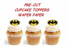 BATMAN LOGO  X24 edible stand up cup cake toppers, wafer paper *pre-cut*