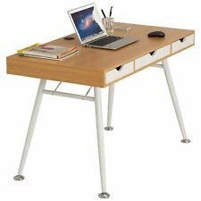 Computer Laptop Writing Work Desk W Drawers & Shelf Retro Style - Piranha Coley