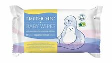 Natracare Organic Cotton Baby Wipes 50 ct (12-Pack)