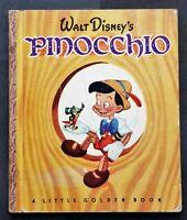 A Little Golden Book - Walt Disney PINOCCHIO - 1948 - Great Condition