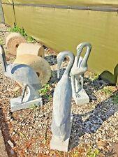 3' Crane Japanese garden carved stone Bird pond water stone Koi pond