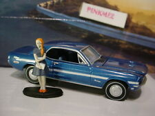 ROAD TRIP Pacific Coast 1968 FORD MUSTANG GT/CS & Figure✰blue✰loose Greenlight