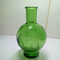 Wheaton Glass Fire Extinguisher Bottle with Eagle/Stars Mint Green 5 1/2 in Nice