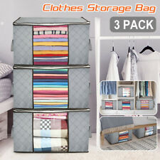 US Anti Dust Large Storage Bag Clothes Quilt Blanket Storage Sort Home Organizer