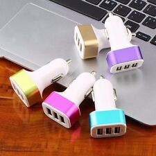 3 USB Port Car Charger Adapter 2.1A For iPhone 4 5 6 LG HTC Samsung Phone NEW