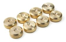 - BRITISH Made - CNC BRASS Speaker Spike Pads Shoes Feet 20 mm DIA - SeT of 8-