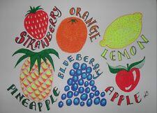 Original Ink illustration 'Fruity' by Michelle Ranson