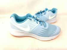 New! Nike Youth Girl's Star Runner Lace Up Shoes Lite Blue #907257-404 142R z