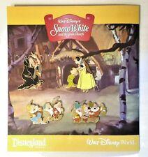 Disney 4 Pin Snow White 7 Dwarfs Hag Witch Apple Dopey Grumpy 80th 2017 Art Card