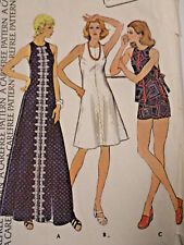 """Mc-4050 1970s  Dress Top Shorts Sewing Pattern McCall's Size 8 Bust 31½"""""""