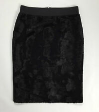 Carla ferroni size M tg 44 46 gonna minigonna skirt studs woman usato nero