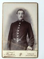 Large Carte De Visite CDV Cabinet Photo - Fisher - Hackney - Policeman
